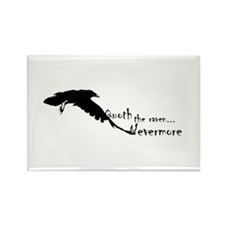 Quoth the Raven... Nevermore Rectangle Magnet
