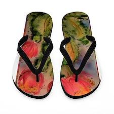 Cactus! Bright southwest art! Flip Flops