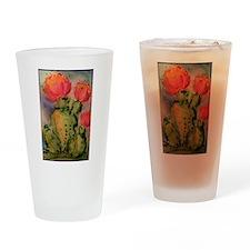 Cactus! Bright southwest art! Drinking Glass