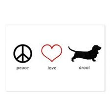 Peace, Love, Drool Postcards (Package of 8)