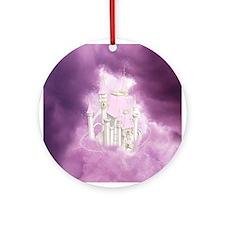 Pink Fairytale Castle Ornament (Round)