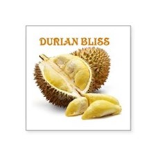 """Durian Bliss Square Sticker 3"""" x 3"""""""