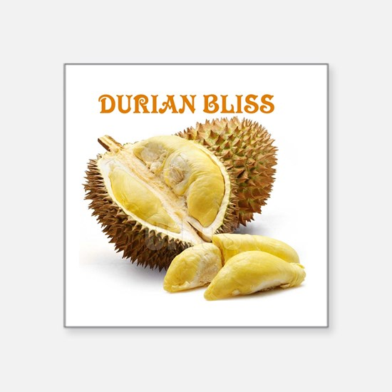 "Durian Bliss Square Sticker 3"" x 3"""
