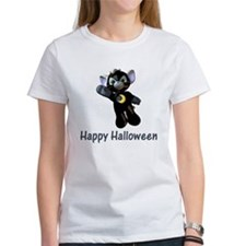 Happy Halloween Moon Kitten Tee