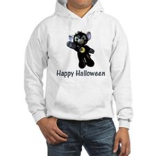 Happy Halloween Moon Kitten Hoodie