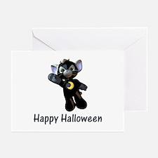 Happy Halloween Moon Kitten Greeting Cards (Packag