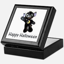 Happy Halloween Moon Kitten Keepsake Box