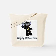 Happy Halloween Moon Kitten Tote Bag