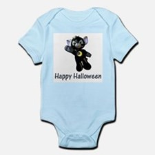 Happy Halloween Moon Kitten Infant Creeper