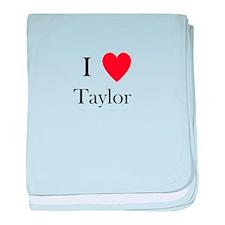 i love taylor heart baby blanket