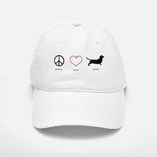 Peace, Love, Drool Baseball Baseball Cap
