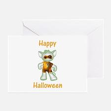 Happy Halloween Ghost Kitten Greeting Cards (Packa