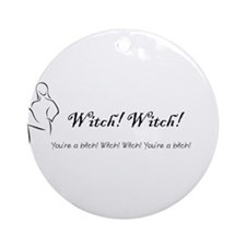 witch practical magic wiccan pagan Ornament (Round