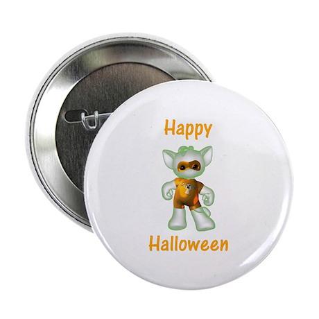 "Happy Halloween Ghost Kitten 2.25"" Button (100 pac"