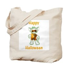 Happy Halloween Ghost Kitten Tote Bag