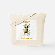 Happy Halloween Ghost Kitten Tote Bag