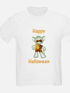 Happy Halloween Ghost Kitten Kids T-Shirt