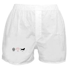 Peace, Love, Drool Boxer Shorts