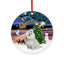 Xmas Magic & Maltese Ornament (Round)