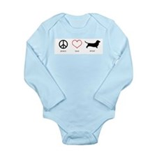 Peace, Love, Drool Long Sleeve Infant Bodysuit