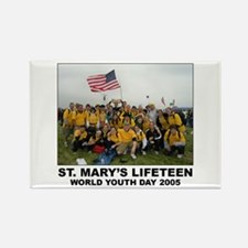 World Youth Day 2005 Group Sh Rectangle Magnet