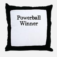 Powerball winner lotto jackpot Throw Pillow
