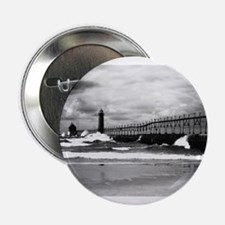 "Lake Michigan Dark 2.25"" Button"