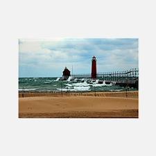 Lake Michigan Beach Rectangle Magnet