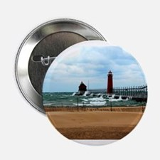 "Lake Michigan Beach 2.25"" Button"
