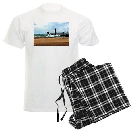 Lake Michigan Beach Men's Light Pajamas
