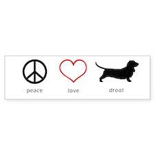 Peace, Love, Drool Bumper Sticker