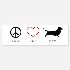 Peace, Love, Drool Sticker (Bumper)