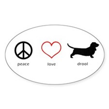 Peace, Love, Drool Decal