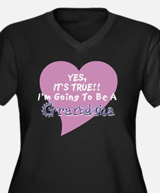 True Grandma To Be Plus Size T-Shirt