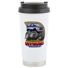 Blue White B2 Travel Mug
