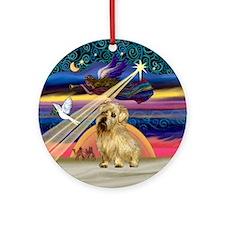 Xmas Star & Norfolk Terrier Ornament (Round)