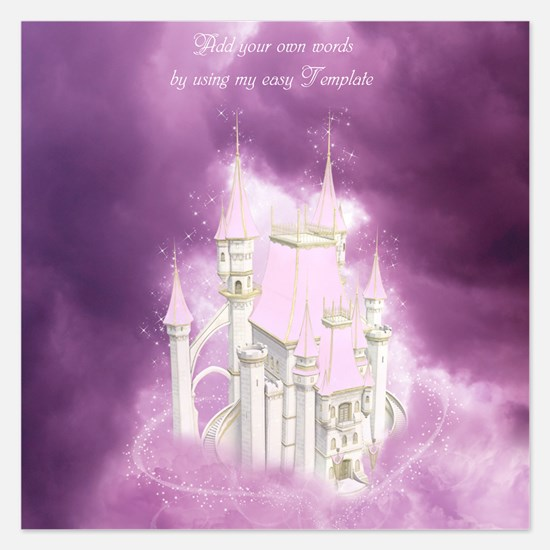 Pink Fairytale Castle Invitations