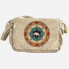 White Buffalo Medicine Wheel Messenger Bag