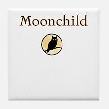 moon-child dark owl Halloween Tile Coaster