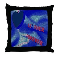 LEATHER 4EVER_ mosaic SATIN Throw Pillow