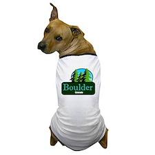 Boulder Colorado t shirt truck stop novelty Dog T-