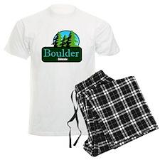 Boulder Colorado t shirt truck stop novelty Pajamas