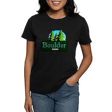 Boulder Colorado t shirt truck stop novelty Women'