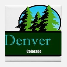 Denver Colorado t shirt truck stop novelty Tile Co