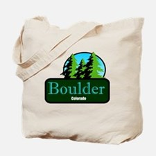 Boulder Colorado t shirt truck stop novelty Tote B