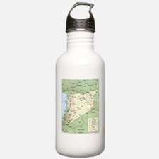 Syria Iraq Turkey Jordan map Water Bottle