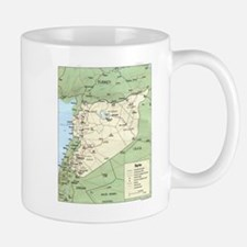 Syria Iraq Turkey Jordan map Mug