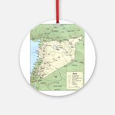 Syria Iraq Turkey Jordan map Ornament (Round)