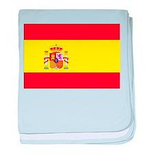 Spanish Flag spain yellow baby blanket