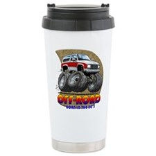 White Red B2 Travel Coffee Mug